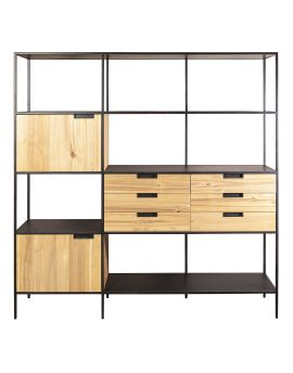 Wandkast Madison light 180cm acaciahout