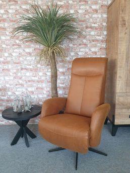 Relaxfauteuil Delden Microleder Cognac