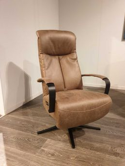 Relaxfauteuil Zutphen Microleder Taupe